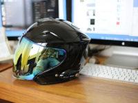 ヘルメットのシールドをスモークミラーにチェンジ!